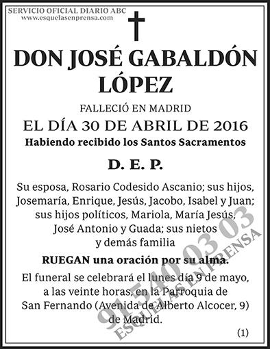 José Gabaldón López